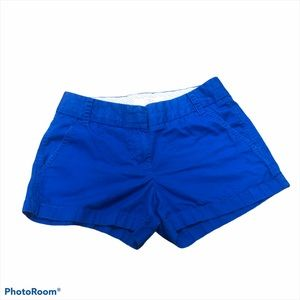 J.crew royal blue chino shorts size 00